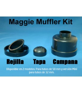 Mini Silenciador para tubo de 32 mm, Maggie Muffler