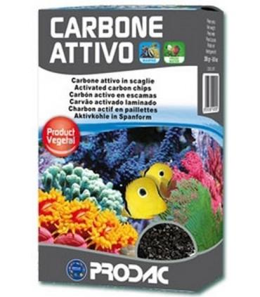 Carbón activo vegetal en escamas, Prodac (250 g)