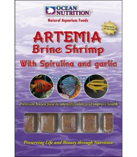 Artemia with spirulina and garlic