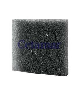 Esponja Foamex 50x50x5 cms poro grueso negra