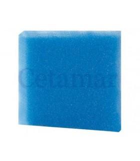 Esponja Foamex 25x25x2cm poro grueso azul